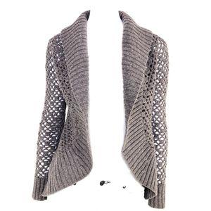 Vince Alpaca Cashmere Open Shawl Cardigan Sweater
